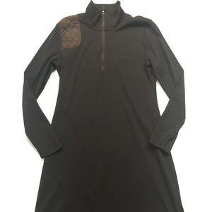 Ralph Lauren Sheath Dress Mock Zip Cotton Long